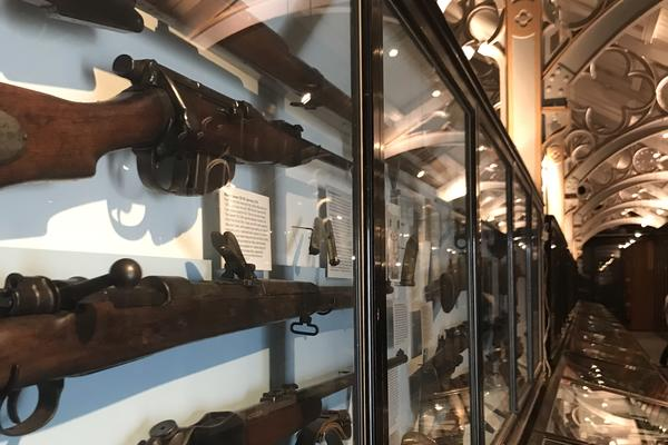 Imperial weapon collections on display at the Pitt Rivers Museum