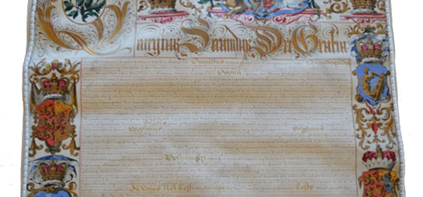 letters patent of George II 1728 - Oxford University Archives