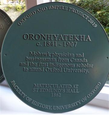 oronhyatekha plaque