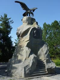 Monument to Nikolai Przheval'skii (1894), Karakol. Issyq-Kul, Kyrgyzstan