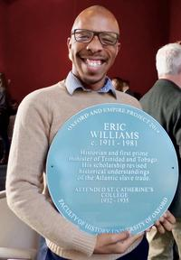 peters with williams plaque